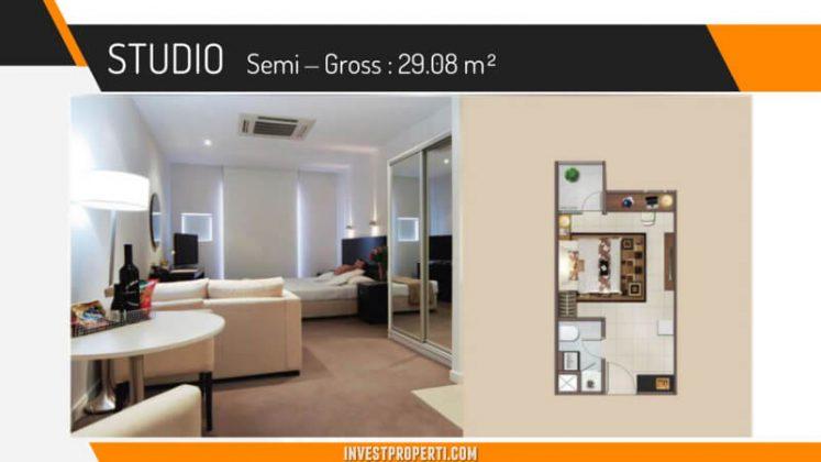Unit Studio Apartemen Vittoria Daan Mogot