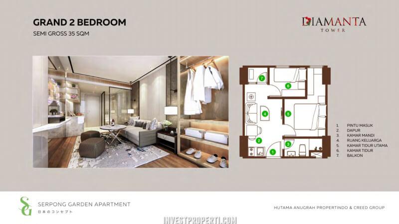 2 BR Type Serpong Garden Apartment