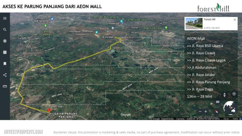 Akses ke Parung Panjang dari AEON Mall BSD