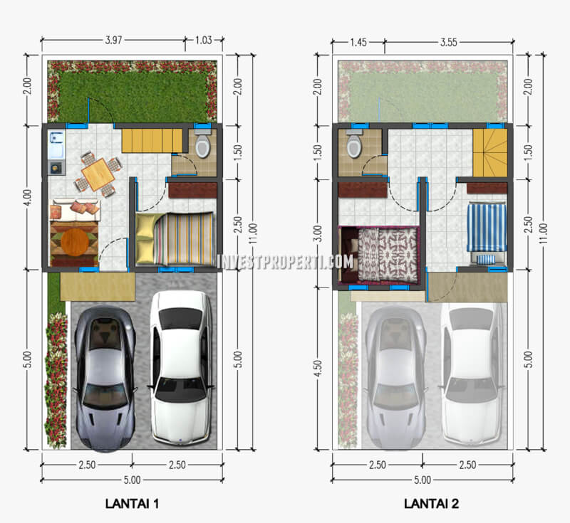 Denah Rumah Azwa Residence Bintaro
