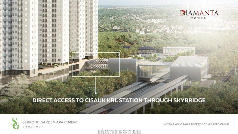 Apartemen Serpong Garden terkoneksi stasiun Cisauk