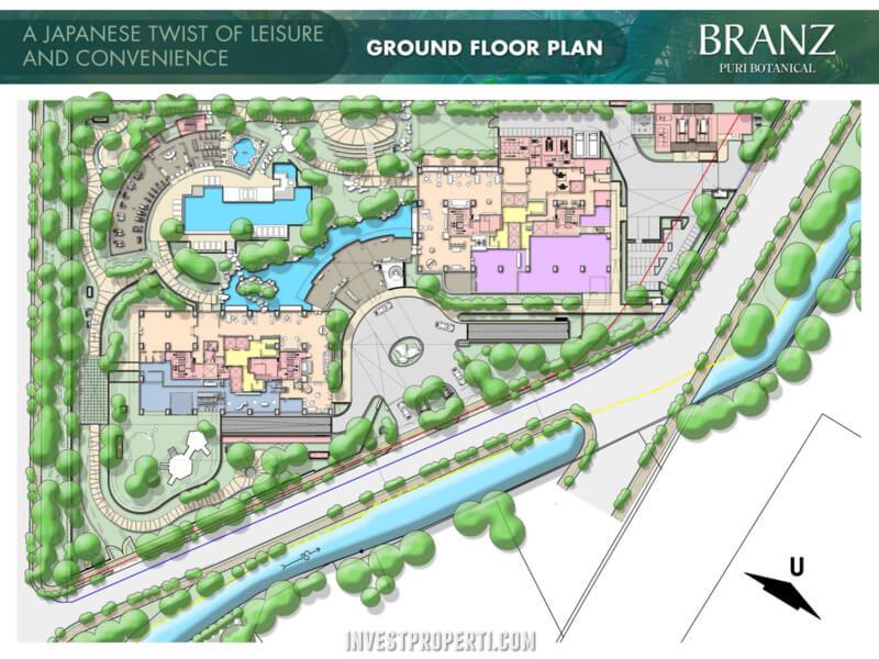 Ground Floor Plan Branz Puri Botanical Jakarta