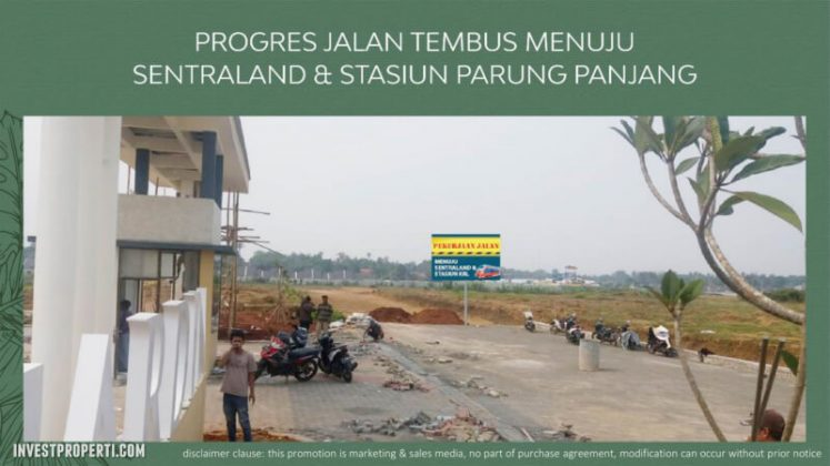 Progress Jalan Tembus Stasiun Parung - Forest Hill