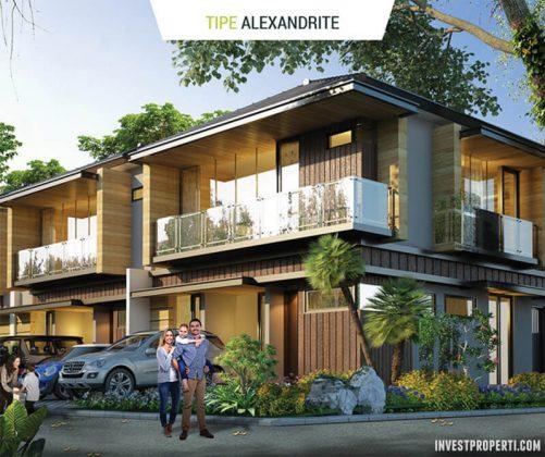 Rumah Cluster Agate GoldenStone Serpong Tipe Alexandrite