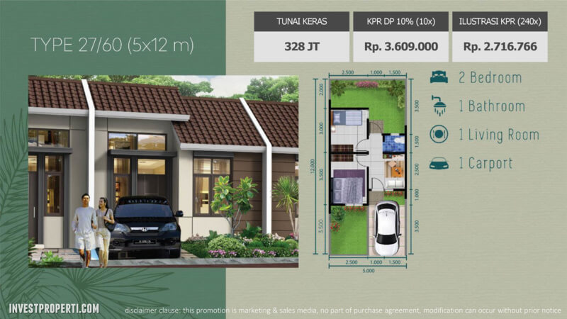 Rumah The Jardin Forest Hill Tipe 27 / 60 m