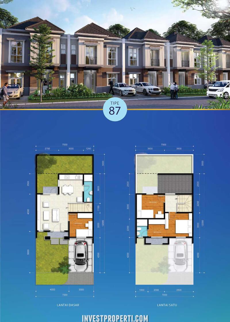 Rumah Visana Boulevard Savia BSD Tipe 87
