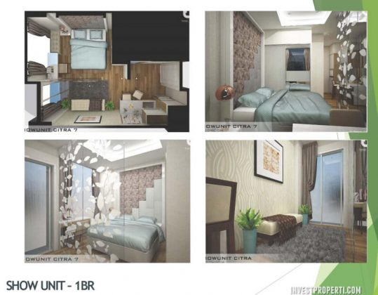 Show Unit 1BR Apartemen Citra Living Jakarta