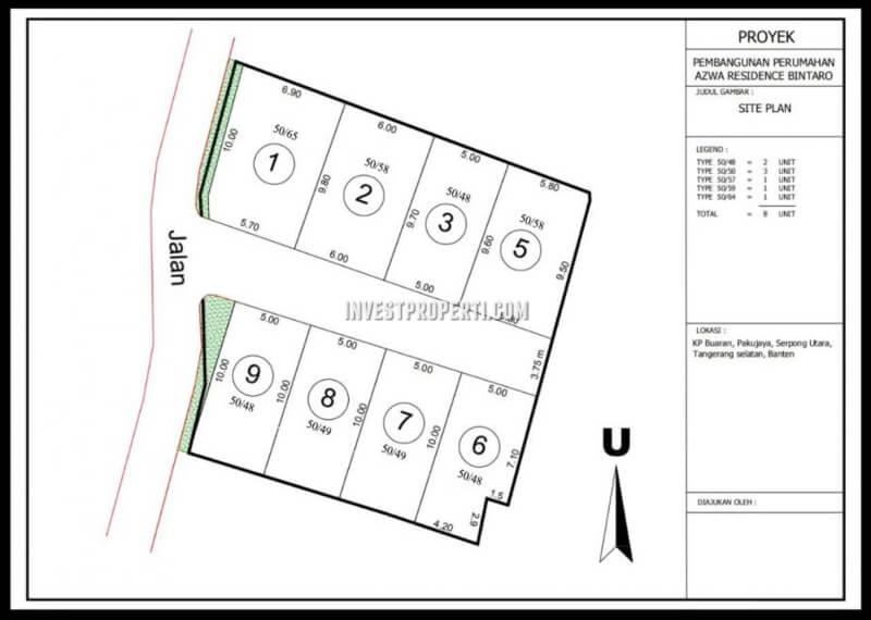 Siteplan Cluster Azwa Residence Bintaro
