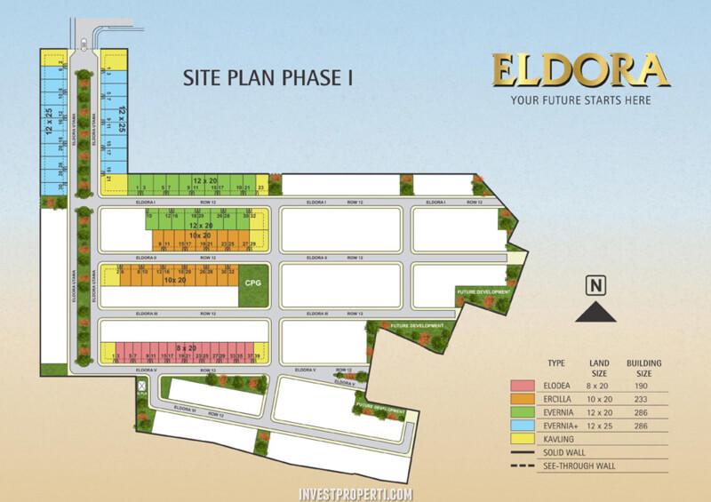 Site Plan Cluster Eldora Suvarna Sutera