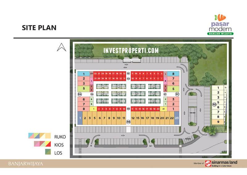 Site Plan Pasar Modern Banjar Wijaya