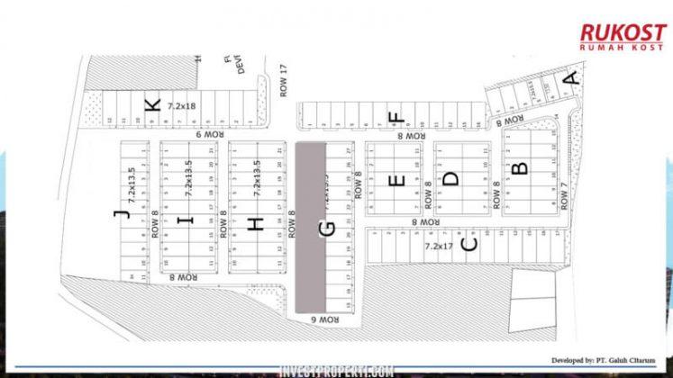 Site Plan Rumah Kost Galuh Mas Karawang
