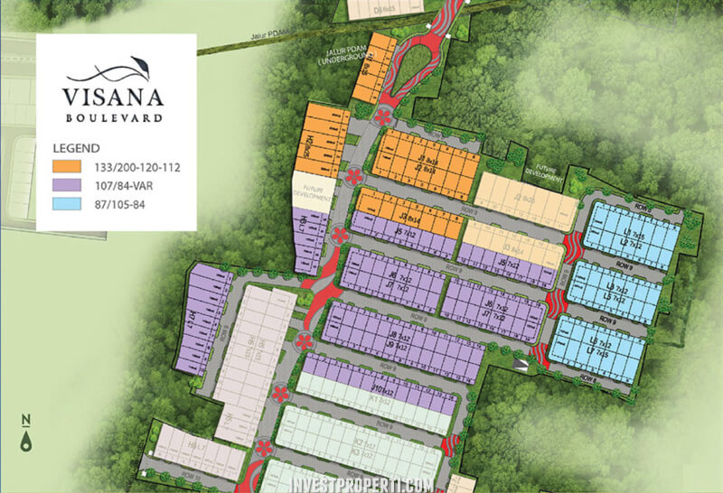 Site Plan Cluster Visana Boulevard Savia BSD