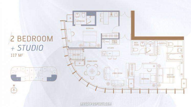 South Quarter Simatupang Jakarta Apartment 3BR + Studio