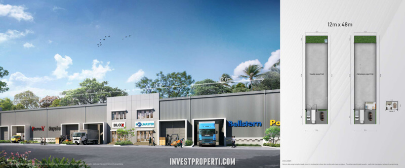 Tipe Gudang Titanium Smart Warehouse Summarecon Makassar