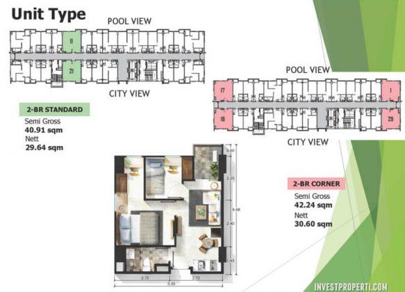 Tipe Unit 2 BR Apartemen Citra Living