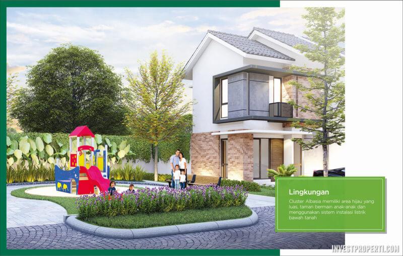 Fasilitas Cluster Albasia GreenAra Residence Kota Harapan Indah Bekasi