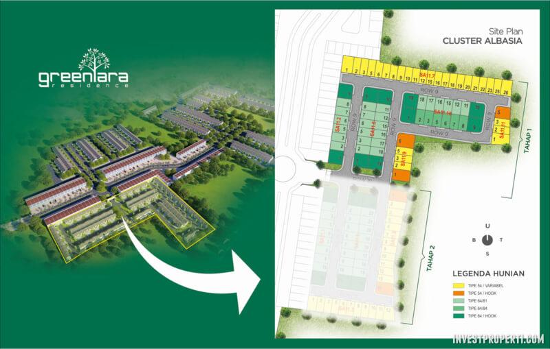 Lokasi Cluster Albasia GreenAra Residence Kota Harapan Indah Bekasi