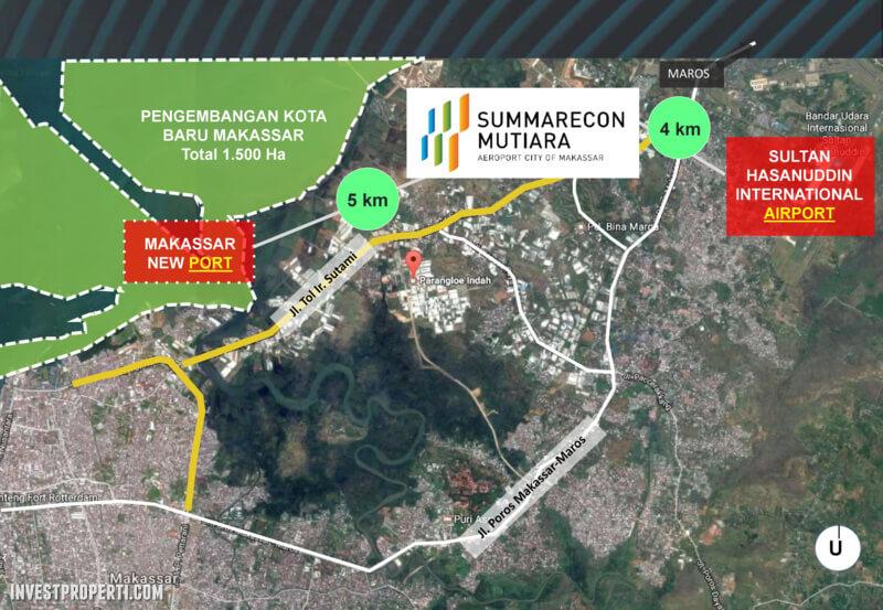 Peta Lokasi Summarecon Mutiara Makassar