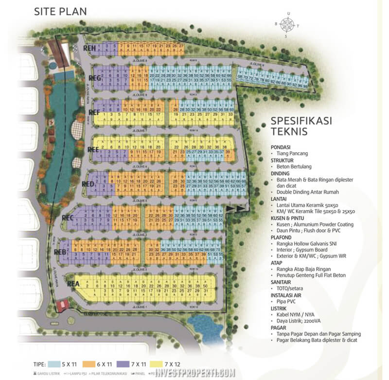 Site Plan Cluster Olive Residence Orchard Summarecon Bekasi