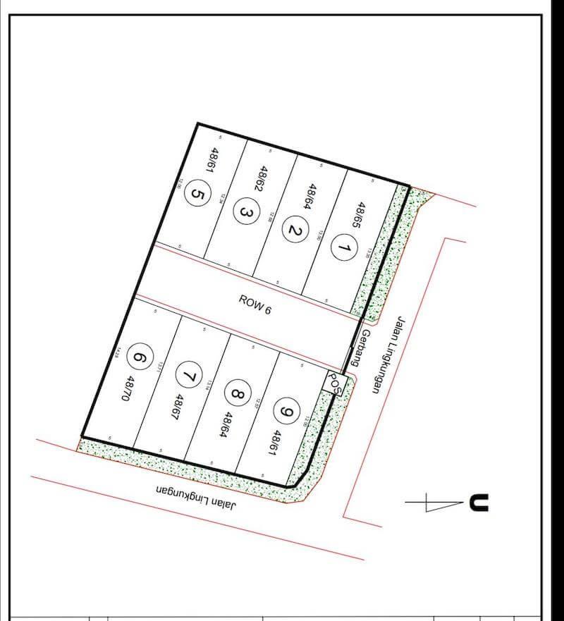 Siteplan Rumah Green Rich Bintaro