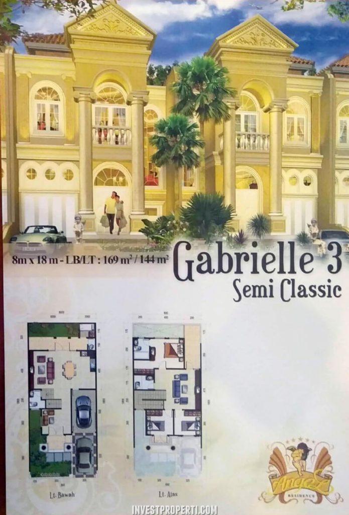 Rumah Angel Residence Jakarta Tipe Gabrielle 3 Semi Classic