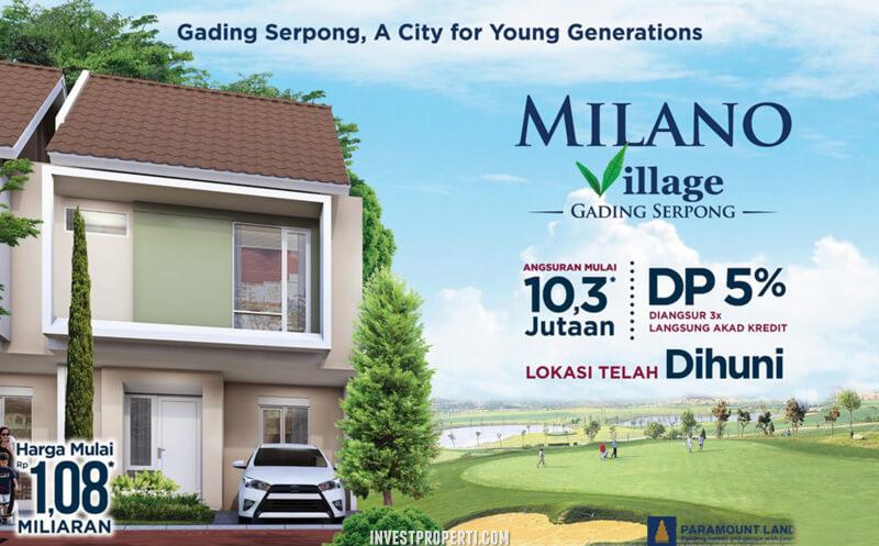 Dijual Rumah Milano Village Gading Serpong