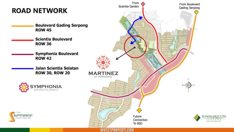 Menuju lokasi cluster Martinez Symphonia Serpong
