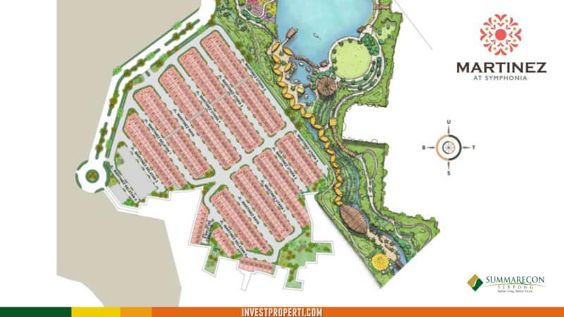 Site plan Cluster Martinez Summarecon Serpong