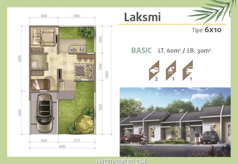 Denah Rumah Srimaya Residence Tipe Laksmi Basic