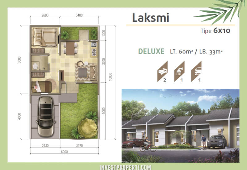 Denah Rumah Srimaya Residence Tipe Laksmi Deluxe