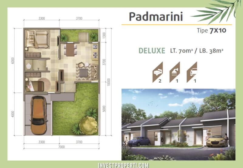 Denah Rumah Srimaya Residence Tipe Padmarini Deluxe