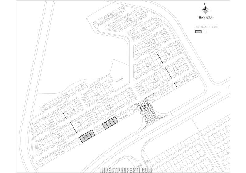 Siteplan Havana Village Paramount Serpong