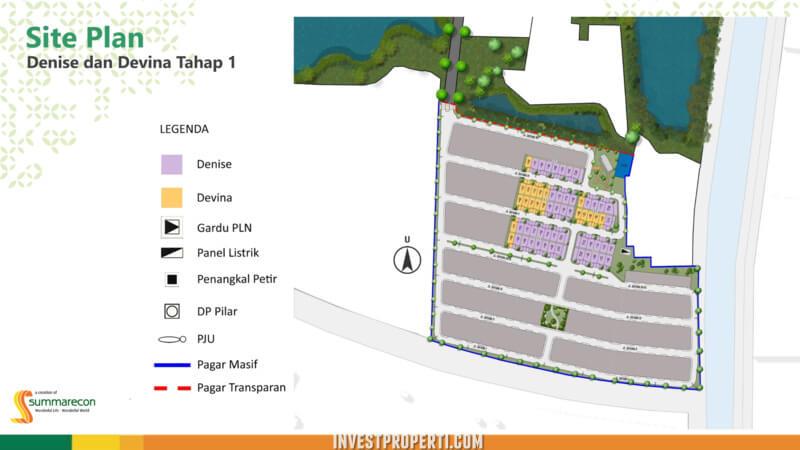 Site Plan Rumah Denise & Devina