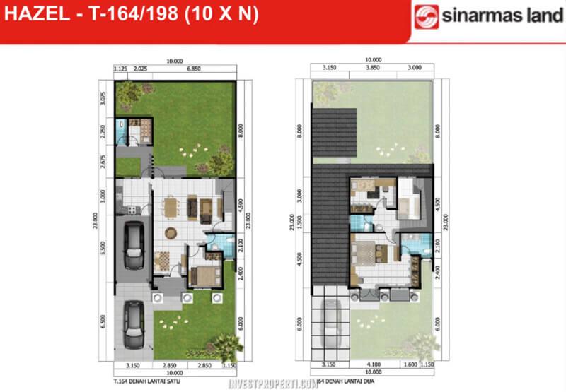 Denah Rumah Hazel Banjar Wijaya T198