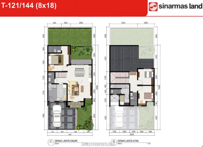 Denah Rumah Italy Banjar Wijaya T144