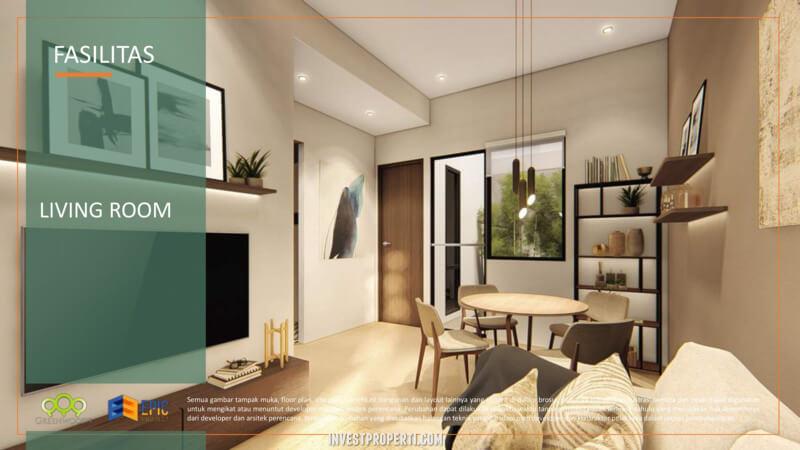 Design Interior Rumah Citaville Parung - Livingroom