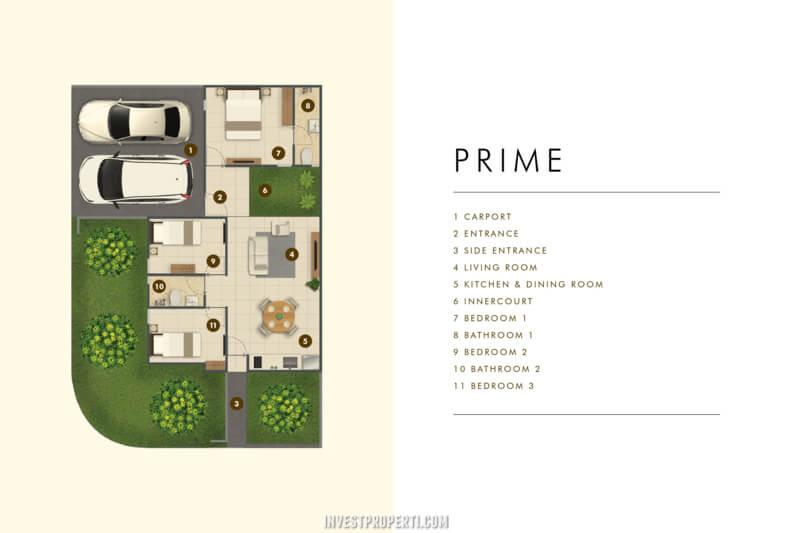 Denah Rumah Cluster Acadia Parung Tipe Home Prime