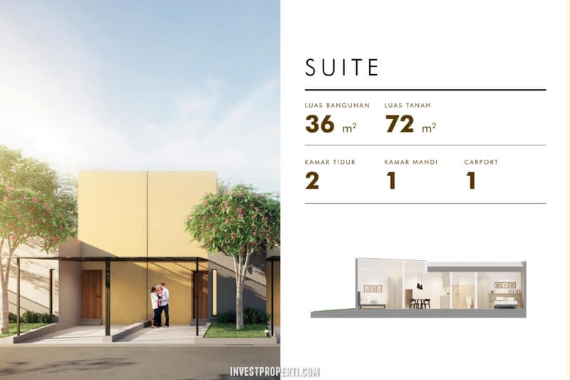 Rumah Cluster Acadia Parung Tipe Home Suite