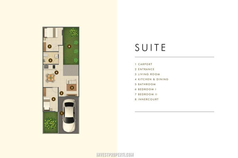 Denah Rumah Cluster Acadia Parung Tipe Home Suite