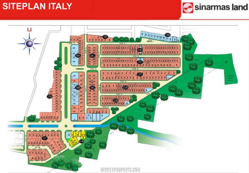 Siteplan Cluster Italy Banjar Wijaya