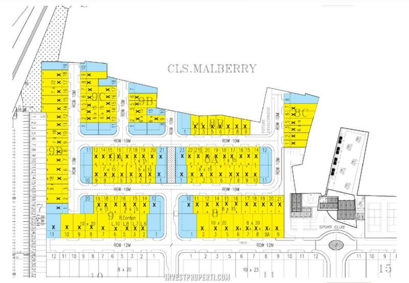 Siteplan Cluster Malberry Banjar Wijaya