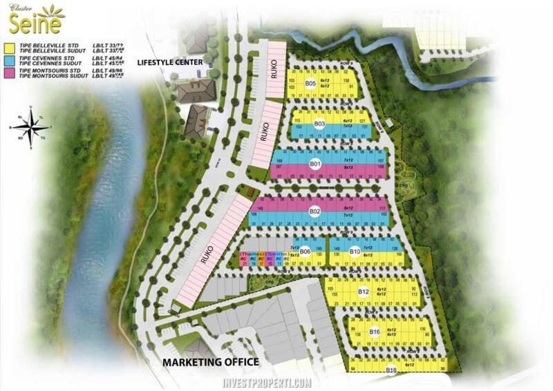 Site Plan Cluster Siene Riverpark Citra Sentul Raya