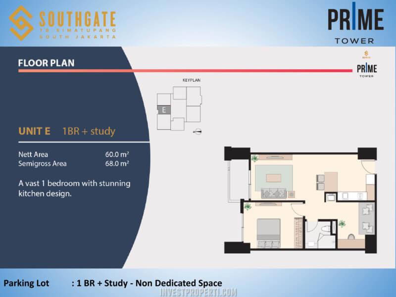 Apartemen Southgate Jakarta Tower Prime Unit 1 BR