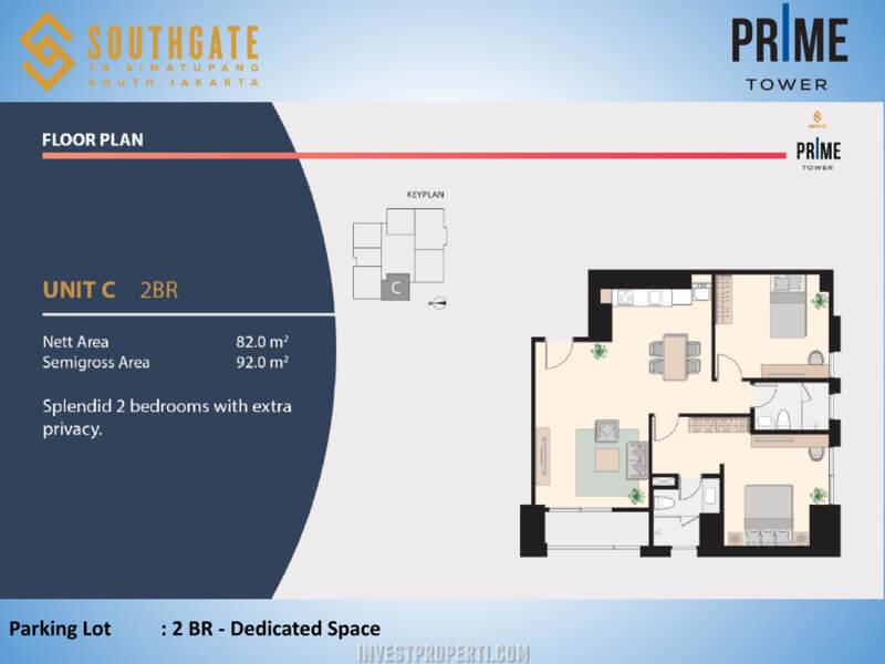 Apartemen Southgate Jakarta Tower Prime Unit 2 BR