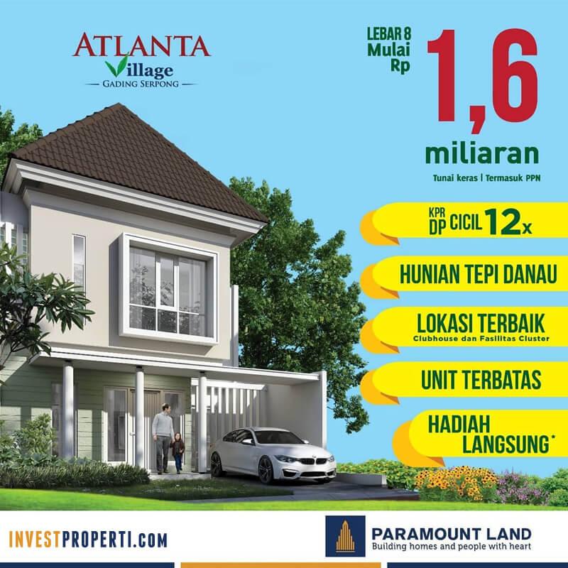 Promo Rumah Atlanta Village Paramount Land