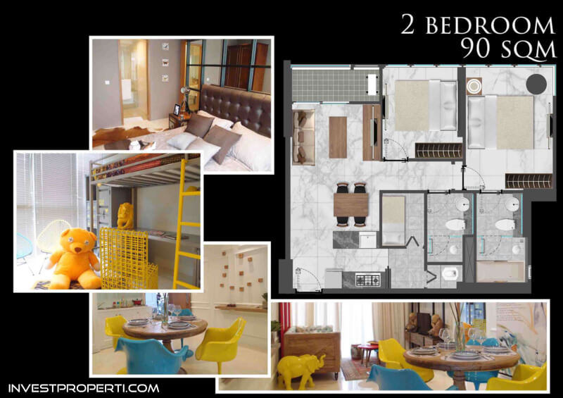 Bahama Tower Apartemen Gold Coast PIK Jakarta Tipe 2 BR
