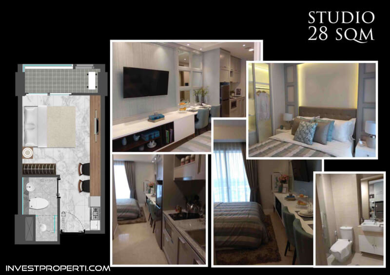 Bahama Tower Apartemen Gold Coast PIK Jakarta Tipe Studio