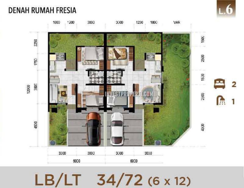 Denah Rumah Certara Lugano Lake Park CitraRaya Tipe L6