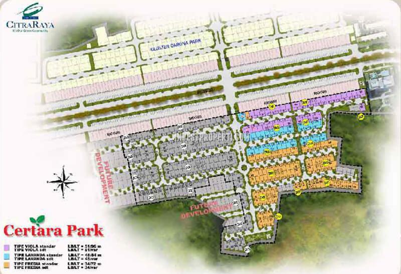 Site Plan Cluster Certara Lugano Lake Park CitraRaya