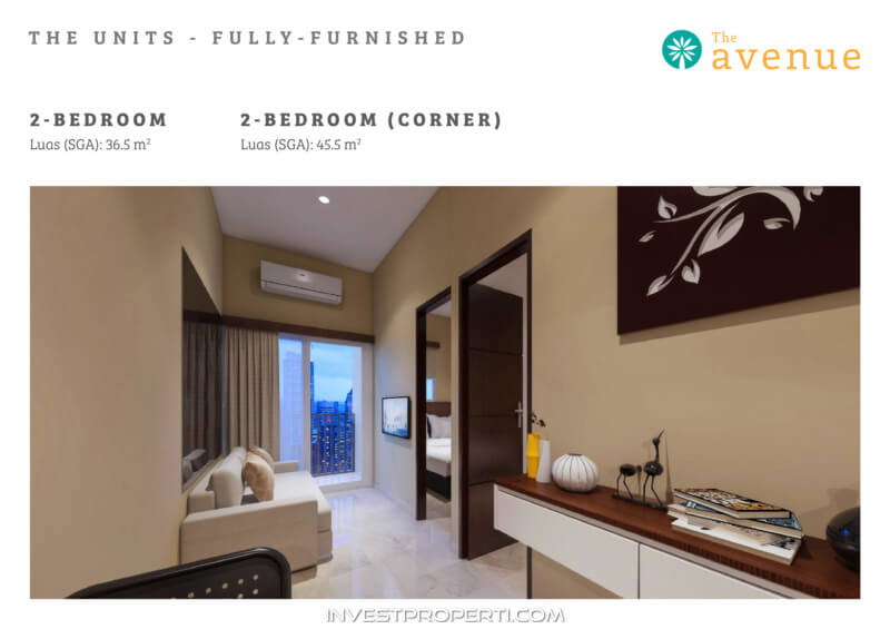 The Avenue BSD Serpong Apartment Unit 2 BR Fully Furnished